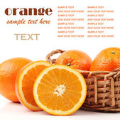 Cutted fresh oranges — Stock Photo