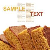 Sweet snack brownie cake — Stock Photo