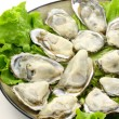Fresh opened oyster — Stock Photo