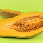 Cutted Orange pumpkin — Stock Photo #35577299