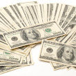One hundred dollars pile as background — Stockfoto