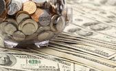 Prasátko na dolary — Stock fotografie