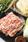 Fresh meat roll — Stock Photo