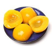 Preserved peaches — Stock Photo