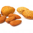 Stock Photo: Handful of almonds