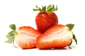 Cutted strawberries — Stock Photo