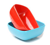 Plastic bowls — Stock Photo