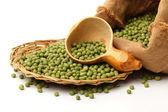 Raw soya beans — Stock Photo