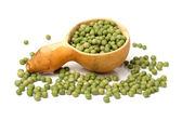 Full spoon of soya beans — Zdjęcie stockowe