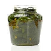 Pickles in bottle — Stock Photo