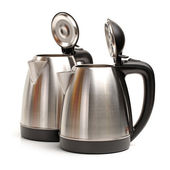 Stainless steel kettles — Stock Photo
