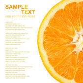 Orange half — Stock Photo
