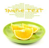 Pomerančové řezy na desce — Stock fotografie