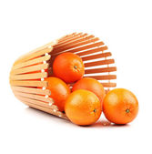 Oranges in basket — Stock Photo