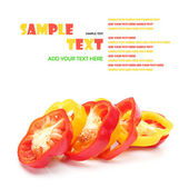 Bell pepper slices — Stock Photo