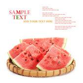 Watermelon in tray — Stock Photo