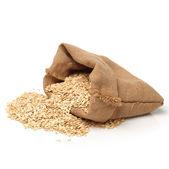 Full bag of oat flakes — Stock Photo