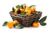 Tangerines in basket — Stock Photo