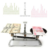 Dollars and chinese yuan — Stock Photo
