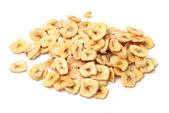 Handful of banana chips — Stock Photo