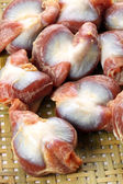 Chicken gizzard on tray — Stock Photo