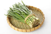 Leek in tray — Foto Stock