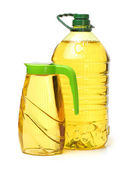 Plastic bottle oil — Stock Photo