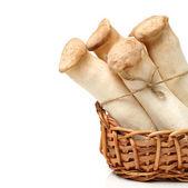 在篮子里的蘑菇 — 图库照片
