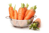 Carrots in bowl — Stock Photo