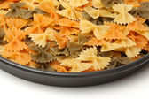 Macaroni in plate — Stock Photo
