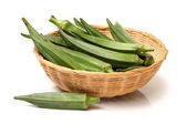 Basket of okra — Stock Photo