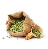 Bag of soya beans — Stock Photo