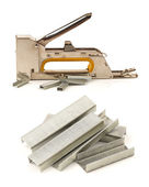 Staple Gun with staples — Stock Photo