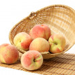 Basket of Peaches — Stock Photo