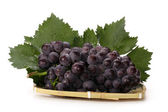 Grapes on plate — Stock Photo
