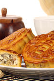 Mooncakes on plate — Stock Photo