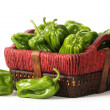Peppers in basket — Stock Photo #44955005
