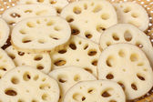 Slices of Lotus root — Stock Photo