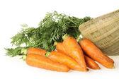 Panier de carottes — Photo