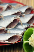 Dish of fishes — Stock Photo