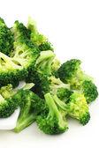Broccoli heap on plate — Stock Photo