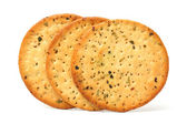 Spring onion crackers — Stockfoto