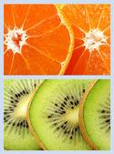 Kiwi and tangerine — Stock Photo