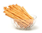 Bread sticks in bowl — Stock Photo