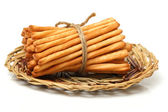 Plate of Bread sticks — Stock Photo