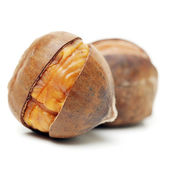 Peeled roasted chestnuts — Stock Photo