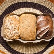 Three types of bread — Stock Photo