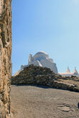 The white stone Church on the island of Mykonos, Greece — Foto Stock