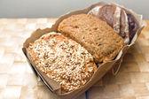 Three types of bread — Stock Photo