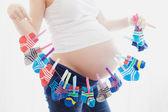 Embarazo gemelar — Foto de Stock